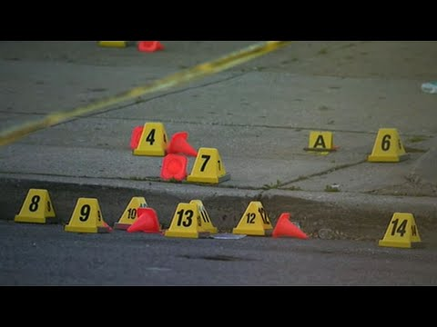 A gunman fired indiscriminately into crowds that had gathered for Sunday afternoon cookouts on opposite sides of a west Baltimore, Maryland street, killing a man and wounding seven other people, authorities and reports said. (April 29)