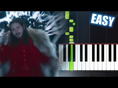 Post Malone - rockstar ft. 21 Savage - EASY Piano Tutorial by PlutaX