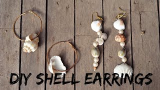 Ep 3 DIY MISMATCHED SHELL EARRINGS | DIY WEEK | MODA YALDA