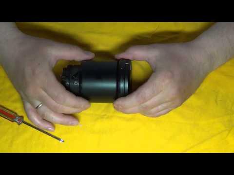 Разборка объектива Sony NEX 18200 для замены шлейфа апертуры и фокуса