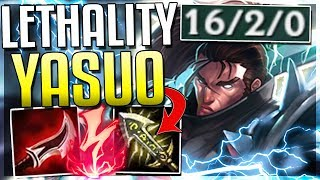 NEW LETHALITY YASUO IS BROKEN! ONE Q DOES 50% HP (NEW RUNES)   League Of Legends