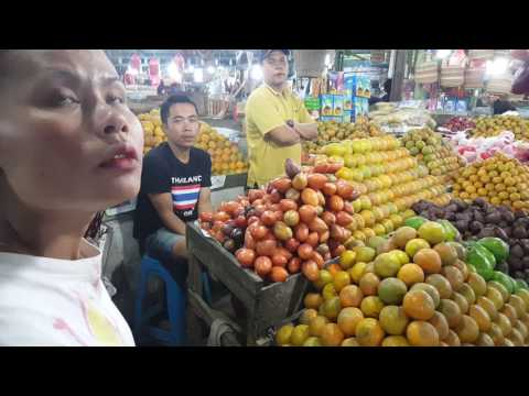 Fruits Like You Have Never Seen.  Walk Through The Fruit Market In Berastagi In Sumatra Indonesia
