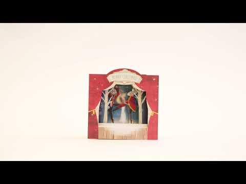 Nutcracker musical pop-up Christmas card