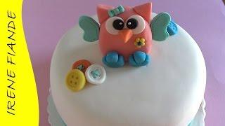 Фигурки из мастики для торта. Как слепить сову.