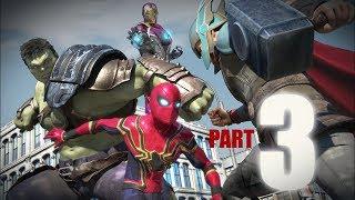 SPIDER-MAN vs Avengers |Hulk| Thor| Ironman| Captain America: Infinity War(Part3/3)