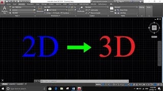 Convert 2D to 3D objects in AutoCAD