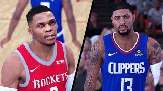 NBA 2K19 - Los Angeles Clippers vs. Houston Rockets - Full Gameplay (Updated Rosters)