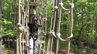 preview picture of video 'Our Tree Top Adventure at Go Ape Williamsburg'