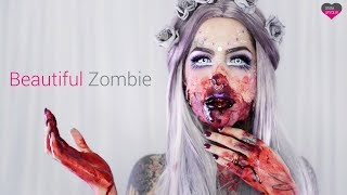HALLOWEEN Beautiful Zombie tutoriál | ADRIANA LOJ & StayUnique.sk