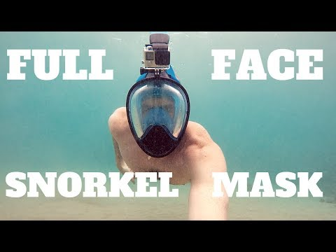 Full Face Snorkeling Mask Review  (ABTECH – GoPro Mount Panoramic Snorkel Mask)
