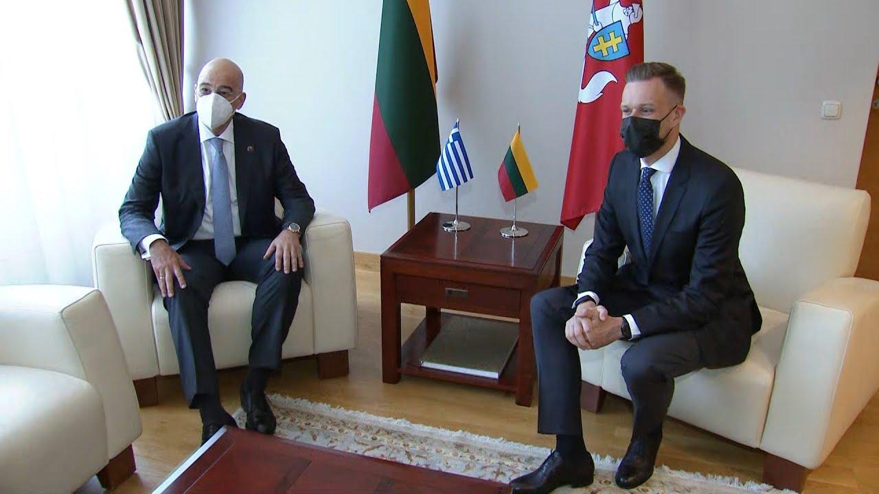 Στο Βίλνιους ο Ν. Δένδιας-Συνάντηση με το Λιθουανό ομόλογό του