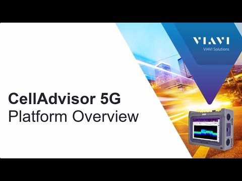 Video: VIAVI CellAdvisor 5G