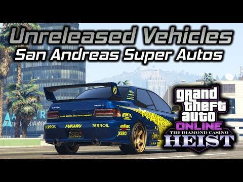 GTA Online Diamond Casino Heist: Unreleased SA Super Autos Vehicles Gameplay and Customization
