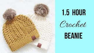 1. 5 Hour Crochet Hat (Easy)
