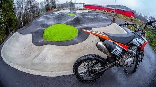 DIRT BIKE VS BMX RACE TRACK!