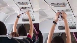 Wanita Ini Keringkan Celana Dalam Menggunakan AC di Pesawat