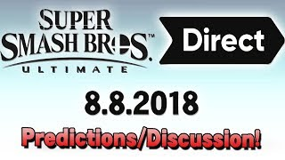 Super Smash Bros. Ultimate Direct - My Predictions and Thoughts! - Smash Run, Newcomers & More!