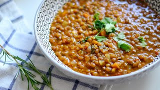Hearty Winter Fall Lentil Soup | Healthy Recipe For Weight Loss