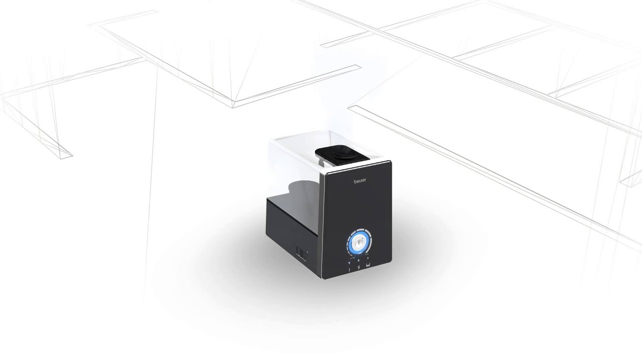 air | Air | Air humidifier | aroma oil | aroma therapy | LB 88 black and white | LB88blackandwhite | LB 88 schwarz und weiß | LB88schwarzundweiß | Living | Ultrasonic atomisation |