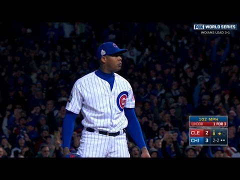 10/30/16: Chapman's eight-out save lifts Cubs to win