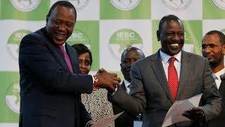 Uhuru Kenyatta declared winner of repeat poll - VIDEO