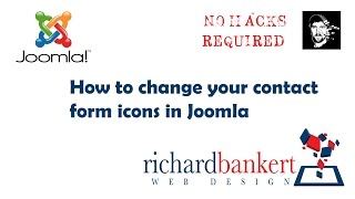 Change Joomla Contact Form Icons with no hacks