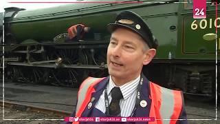 """قطار """"ذا فلاينج سكوتسمان"""" البخاري يعود مجدداً في بريطانيا"""