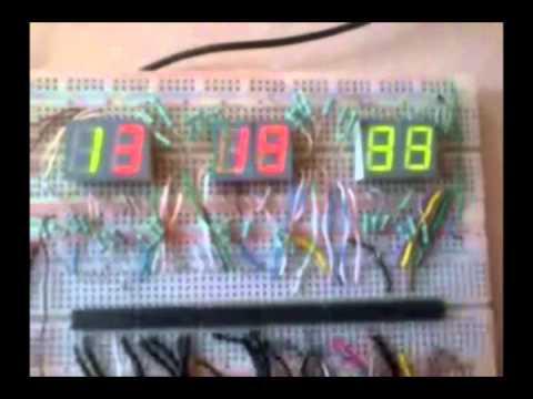 Reloj digital con 7447 o 7448, 7490 y compuerta lógica AND