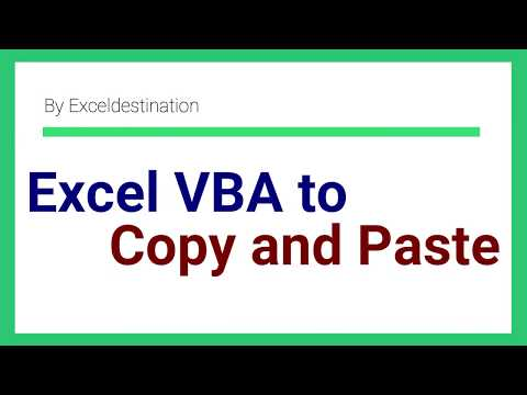 Excel VBA Copy Paste Range to another Sheet - Macro for Copy Paste