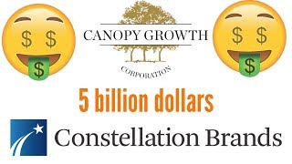 I bough 260,000 dollars worth of Canopy growth stock.
