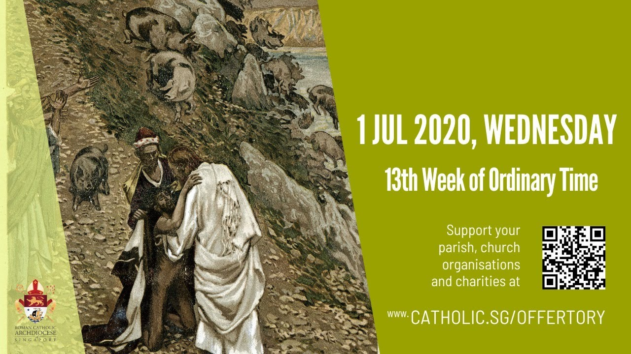 Catholic Mass Today Online 1st July 2020 By Archdiocese of Singapore