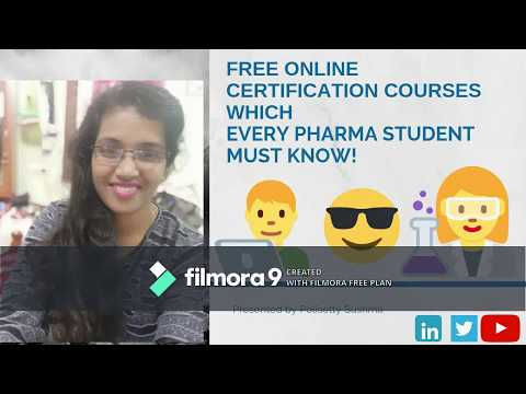 Free online certification courses which every Pharma student must ...