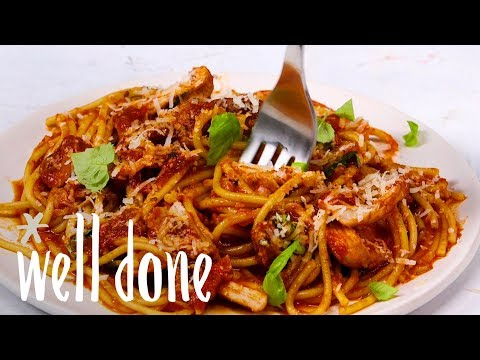 How To Make Pressure Cooker Chicken Spaghetti | Recipe | Well Done