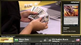 World Championship 2014 Round 7 (Modern): Willy Edel vs. Sam Black