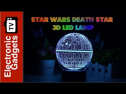Star Wars Death Star 3D LED Lamp - Holographic Lamp, 2 Light Modes, 7 Colors