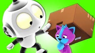 Rob The Robot - Ep#13 Space Cat Pet Sitters | Preschool Cartoons | Oddbods & Friends