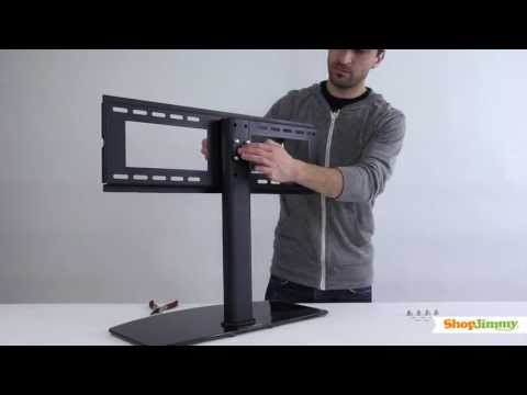"ShopJimmy Universal TV Stand/Base For 37""- 55'' TVs-Install Universal TV Stand & Wall Mount Mp3"