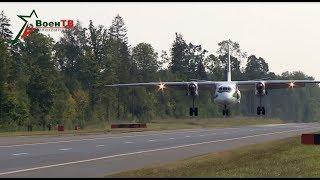 На трассу  Минск-Могилев сели боевые самолеты (полная версия)