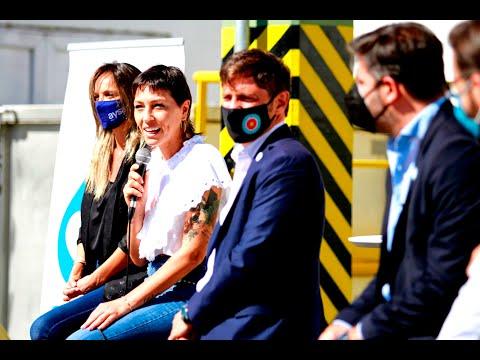 Kicillof estuvo junto a Mendoza y Galmarini en la inauguración de obras hídricas en Quilmes