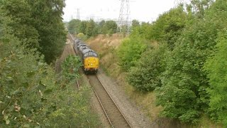 preview picture of video 'Deeside 8.9.2014 - DRS Convoy 37667 47805 37682 - Class 37 47 - Connahs Quay'