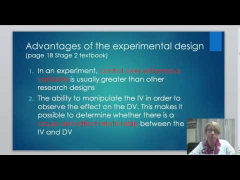 Video 3b Advantages and Disadvantages of Experimental Design