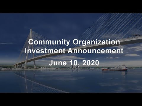 Community Organization Investment Announcement - June 10, 2020