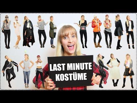 LAST MINUTE KOSTÜME + DIYs! | Schnell & Einfach!