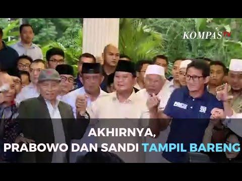 Akhirnya, Prabowo dan Sandiaga  Tampil Bareng