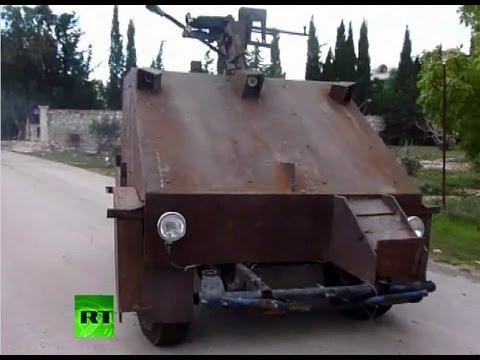 Syrian Rebels Built This Tank Using Old Cars And Games Consoles