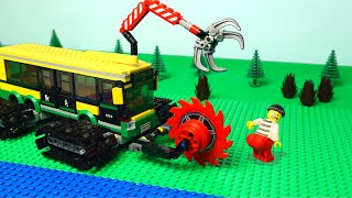 LEGO Wheels on the Bus change to tracks, Experimental trucks and cars build raiway for kids