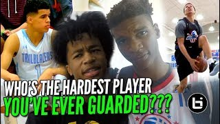 WHO'S THE HARDEST PLAYER YOU'VE EVER GUARDED? Part 2! Pangos All American Edition