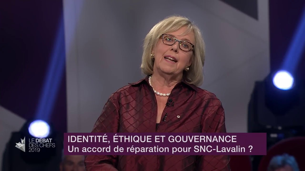 Elizabeth May answers a question about SNC-Lavalin