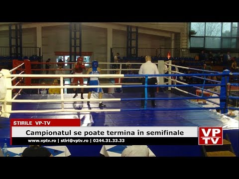 Campionatul se poate termina în semifinale