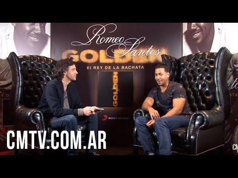 Romeo Santos video Golden, El Rey de la Bachata - Entrevista Argentina 2017